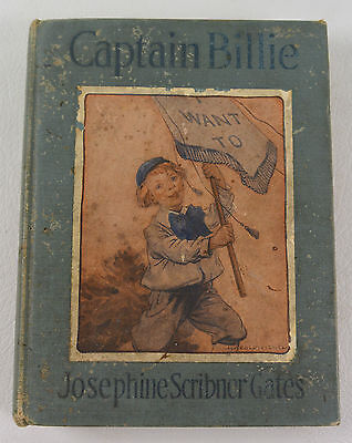Original Antique Vintage Captain Billie Josephine Scribner Gates 1914 Book