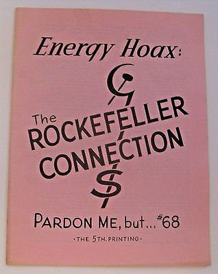 VINTAGE 1974 ENERGY HOAX ROCKERFELLER CONNECTION POLITICAL COMMUNISM MAGAZINE