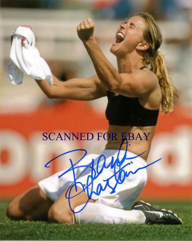 BRANDI CHASTAIN SIGNED AUTOGRAPH 8x10 RP PHOTO TEAM USA SOCCER