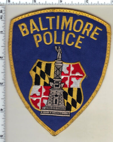 Baltimore Police (Maryland) uniform take-off shoulder patch from the 1980