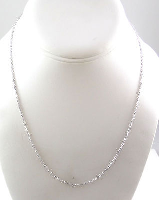 """Vintage 925 Sterling Silver Prince Of Whales Chain Necklace 18"""" (1.9g) - 455150"""