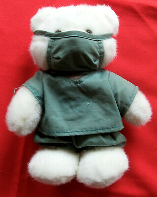 Doctor Nurse White Polar Bear ~ Surgical Outfit~ Soft Plush Stuffed Toy~Stand up (Kids Nurses Outfit)
