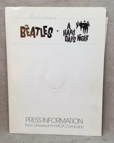 1981 Beatles A Hard Days Night Movie Press Kit with 3 photographs.