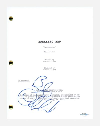 Bob Odenkirk Signed Autograph Breaking Bad Full Measure Episode Script ACOA COA