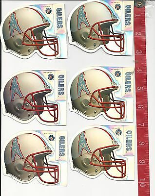ae661ba4c01 Vintage lot 6 Prismatic sticker sheets NFL Houston Oilers