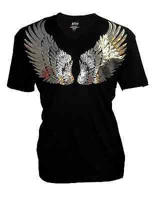 Plus Size Angel (Women Plus Size with Sequin Angel wings Bling Bling T-Shirt,Short Sleeves)
