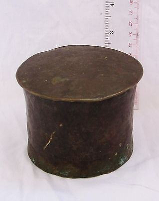 Antique Copper Betel Nut Container Box 19th Century