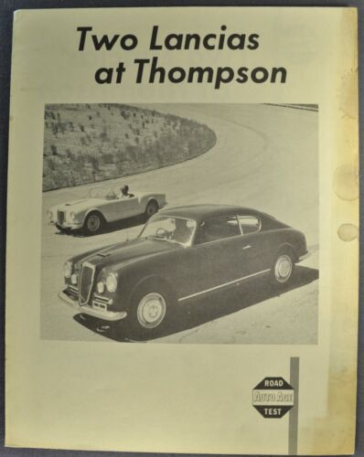 1955-1956 Lancia Spyder & GT Coupe Road Test Brochure Folder Nice Original