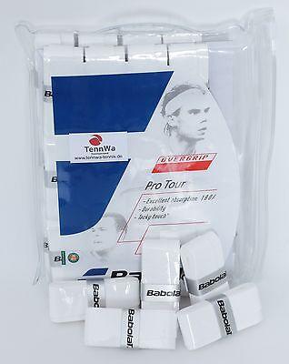 Super Schweißaufnahme: 5er Pack BABOLAT Pro Tour Grip, Griffband 0,6mm weiß