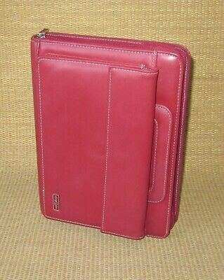 Classic 1.125 Rings Red Sim. Leather Franklin Covey Plannerbinder Handles