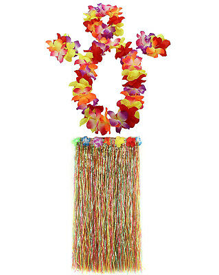 JEKANEL 1 Set 80cm Adult Party Hawaii Dress Hula Grass Skirt (Hawaii Grass Skirt)