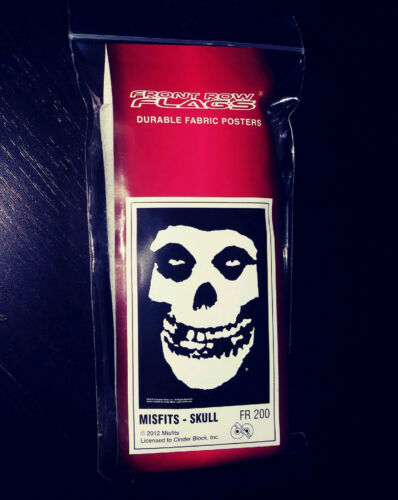 MISFITS Fabric POSTER - Fiend SKULL / Crimson Ghost - 30x43 Flag - Glenn Danzig