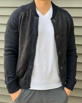 New Abercrombie & Fitch Mens Button Sweatshirt Sweater L XL XXL
