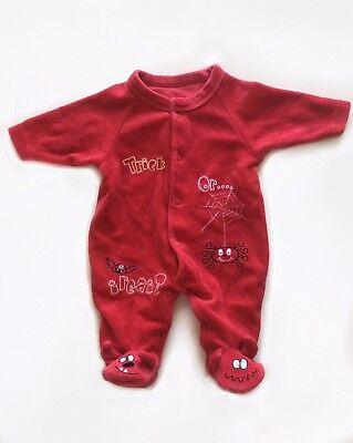 Costume Tuta Diavoletto Bebe Neonato 0-3 Mesi