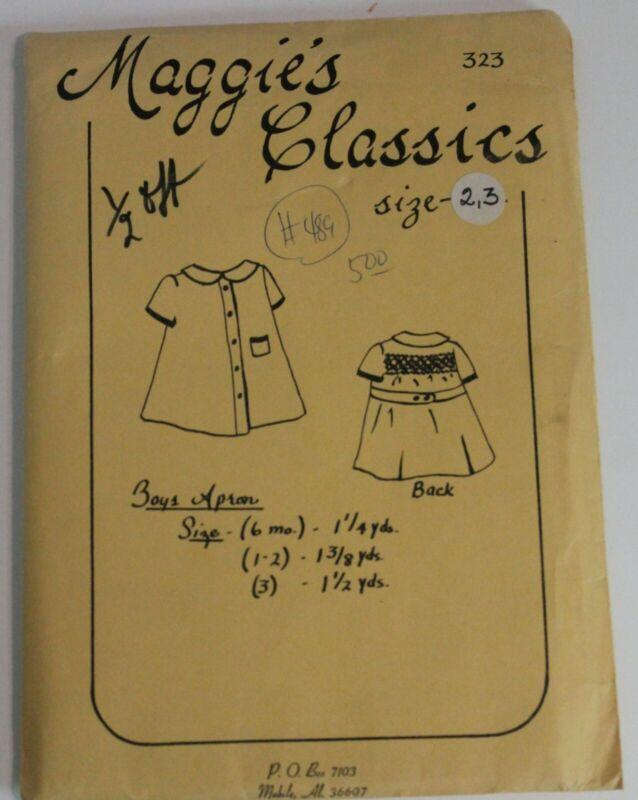 Vintage Maggie's Classics Heirloom Pattern Boys Apron