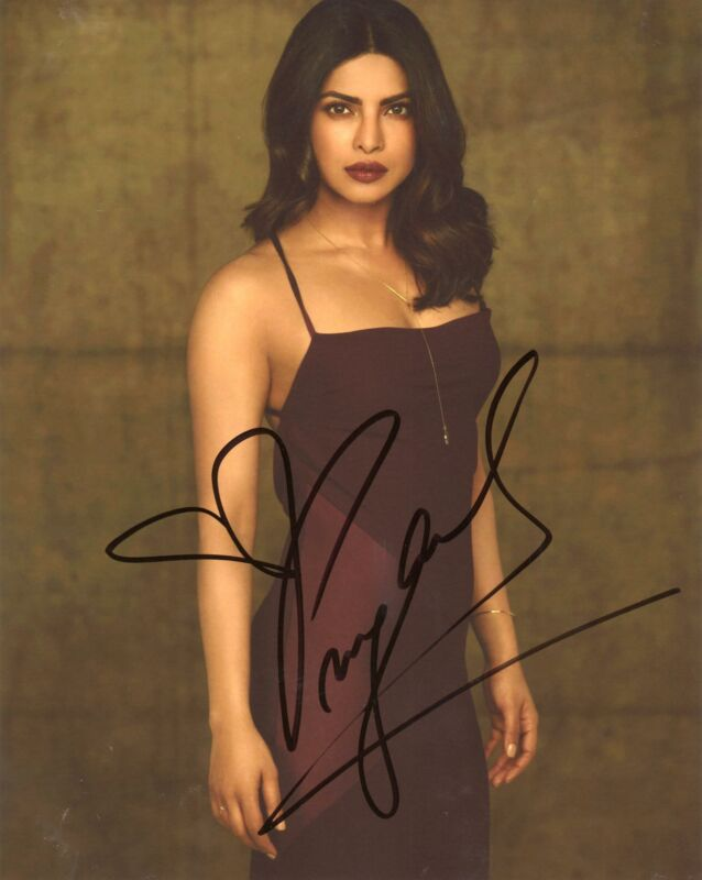 "Priyanka Chopra ""Quantico"" AUTOGRAPH Signed 8x10 Photo L ACOA"