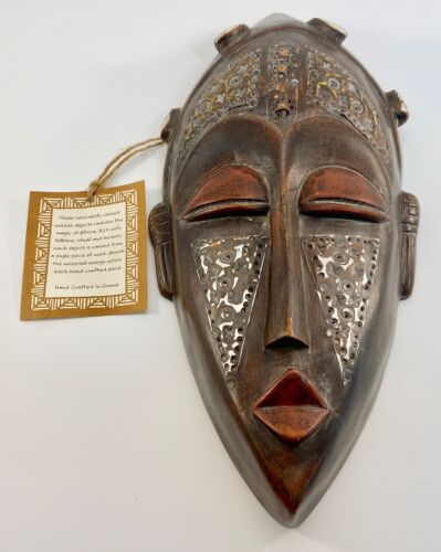 Ghana African Hand Crafted Wooden Tribal Mask