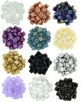 25 Pezzi Two Foro Ceco Tegola Brick Vetro Quadrato Perline 6mm X 6mm -  - ebay.it