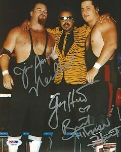 Jim-Neidhart-Jimmy-amp-Bret-Hart-Foundation-Signed-8x10-Photo-PSA-DNA-COA-WWE-WWF