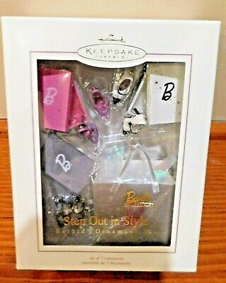 Hallmark Keepsake Christmas Ornaments Step Out in Style Barbie Set of 7 Access.