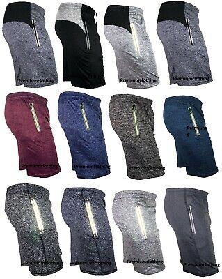 Mens Lightweight Shorts Reflective Side Pockets Jersey Panel Back Holiday Fleece