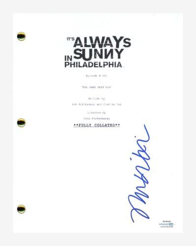 Mary Elizabeth Ellis Signed It's Always Sunny in Philadelphia Pilot Script ACOA