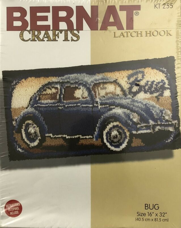 "Volkswagen Bug Latch Hook Kit KT 255 Size 16""x32"""