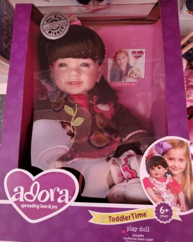 """NIB ADORA vinyl Toddler Time Doll 20"""" Tall Handpainted Features 2017"""
