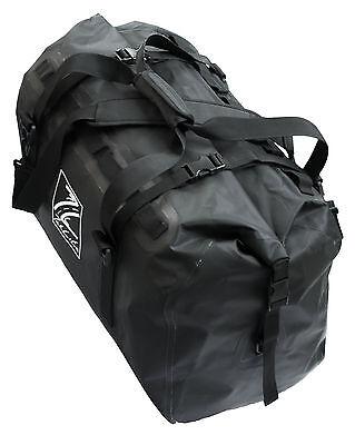 Waterproof Motorcycle Luggage Roll Top Dry Bag Seat Tail Rack Pack 60 Litre Blk