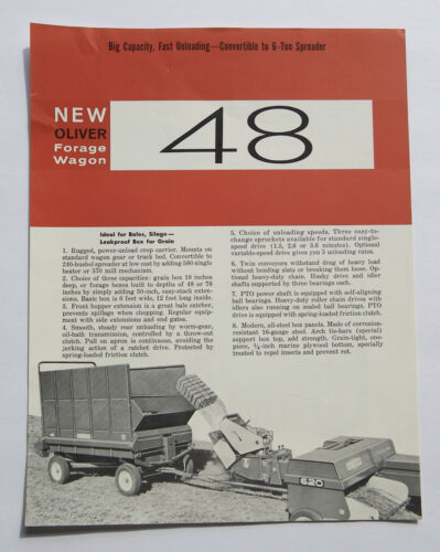 1963 Oliver 48 Forage Wagon Brochure