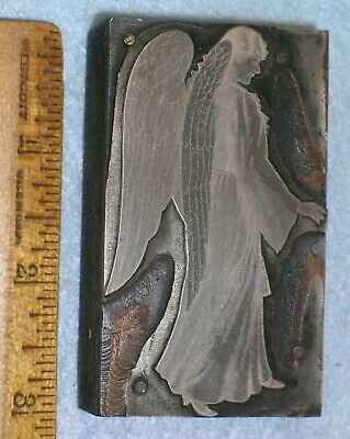 Antique Angel Zinc Printing Blocks E132