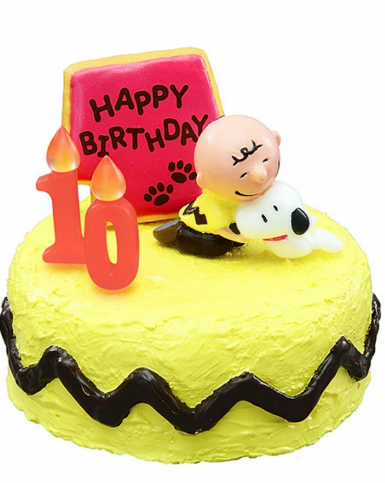 Miniatures Peanuts Snoopy Birthday Cake Set Complete 1 Box 8 Pcs