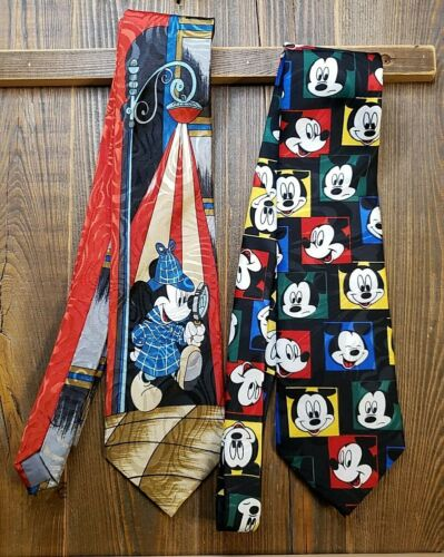 Lot of 2  BALANCINE HOT CAKES MICKEY MOUSE NECKTIES TIES