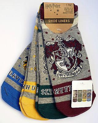 NEU Harry Potter 4 Paar Damen Sneaker Socken 37-42 Hogwarts Strümpfe PRIMARK