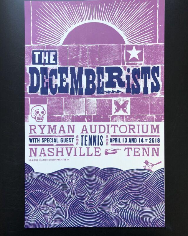 THE DECEMBERISTS HATCH SHOW PRINT RYMAN Concert Poster Nashville. M/NM
