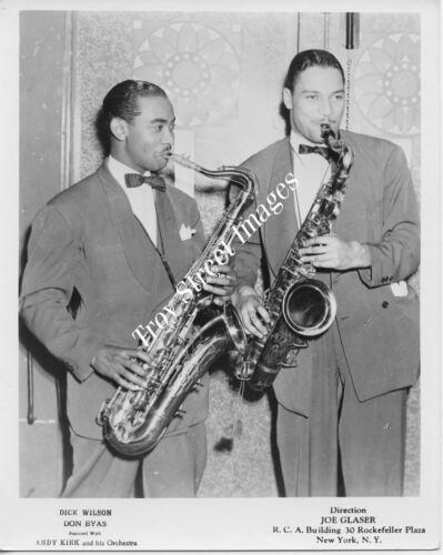 Reprint 8x10 promo photo #2 jazz tenor saxophonists DON BYAS & DICK WILSON