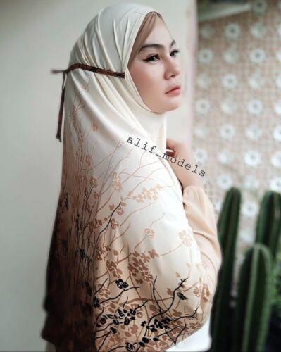 Brown Garden Khimar Instant Hijab One Piece Slip On Pinless HeadScarf Jilbab