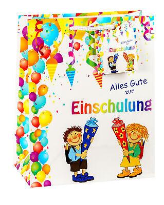 Geschenk Tüte Trage Tasche Einschulung Schulanfang für Junge und Mädchen neu