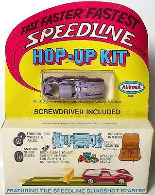 1968 Aurora HO Free Rolling Cigar Box SPEEDLINE Ford Cobra GT PplChrome 6871 MOC