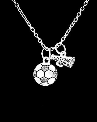 Soccer Necklace Megaphone Go Team Sports Mother's Day Gift - Soccer Jewelry