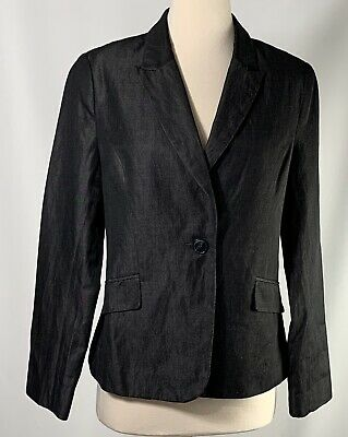 Womens H&M Black Single Breasted Blazer Size US 12