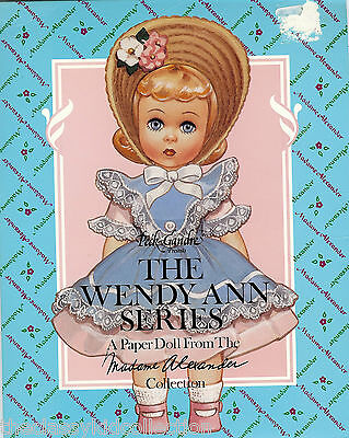 Madame Alexander Wendy Ann Paper Dolls with 10 Fashions & Accessories