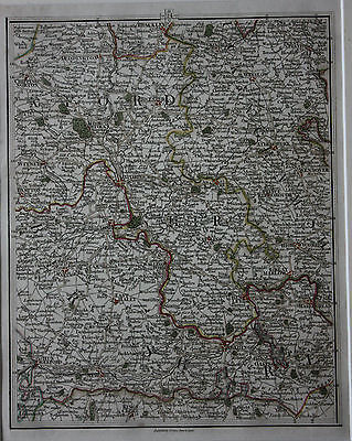 Original antique map OXFORD, BUCKS, BERKS, HENLEY, NEWBURY, BICESTER, Cary, 1794
