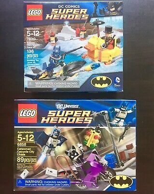 LEGO DC Comics #6858 Catwoman Catcycle Chase #76010 Batman Penguin Face Off NEW