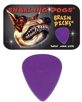 Brains Dog - Snarling Dogs Brain Guitar Picks Purple  .60 mm 12 picks with Tin Box