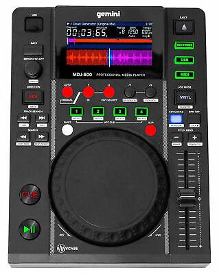 Gemini MDJ-500 Professional Single DJ Tabletop USB Media Player MIDI -