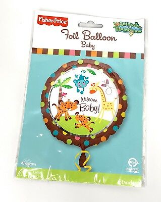 Fisher Price Welcome Baby Animals of the Rainforest Foil Balloon Shower New - Price Of Balloons