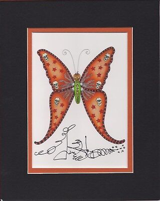 NEW ORLEANS HALLOWEEN BUTTERFLY Jamie Hayes MATTED, 8X10, SIGNED GICLEE, SKULLS - New Orleans Halloween