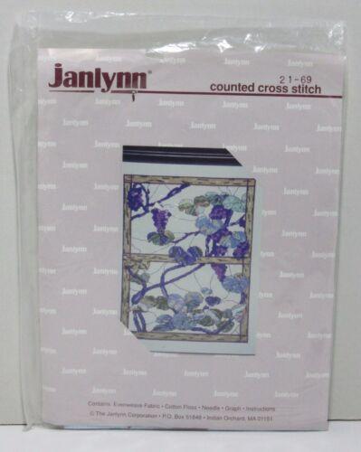 Vintage Janlynn Counted Cross Stitch Kit #21-69 Vineyard Light