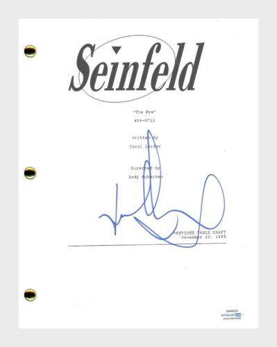 Jason Alexander Signed Autographed Seinfeld The Rye Episode Script ACOA COA